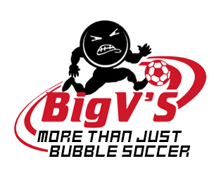 Big-V's Bubble Soccer Logo